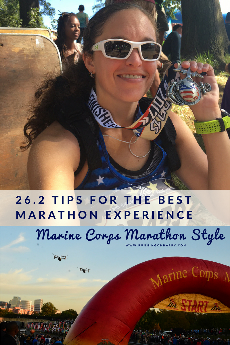 Check out these 26.2 tips for the best marathon experience -- Marine Corps Marathon style! Lots of insider secrets and tips from the course.