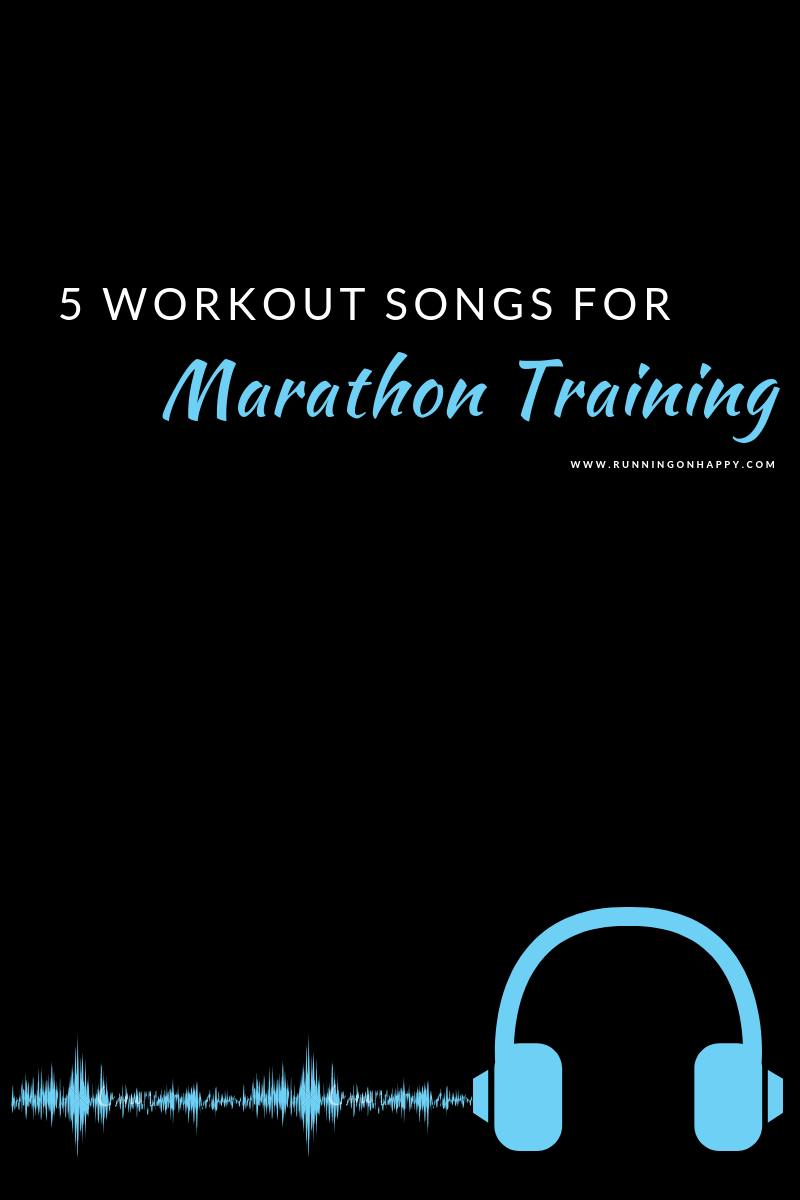 There are some songs that speak to me, especially during hard workouts or long runs. Check out five of my favorite workout songs that I listen to during marathon training!