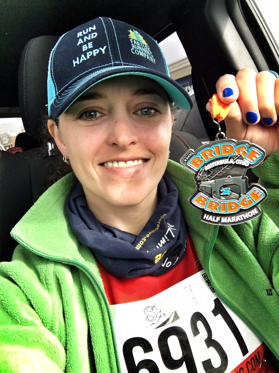 Bridge2Bridge Half Marathon Race Review and Recap | Running on Happy
