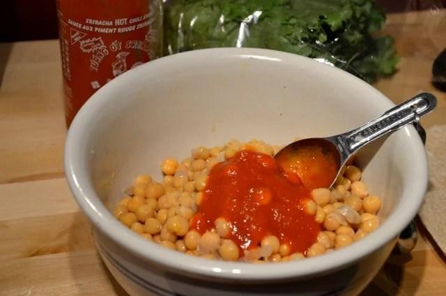 Spicy Chickpea Wraps with Cilantro and Avocado