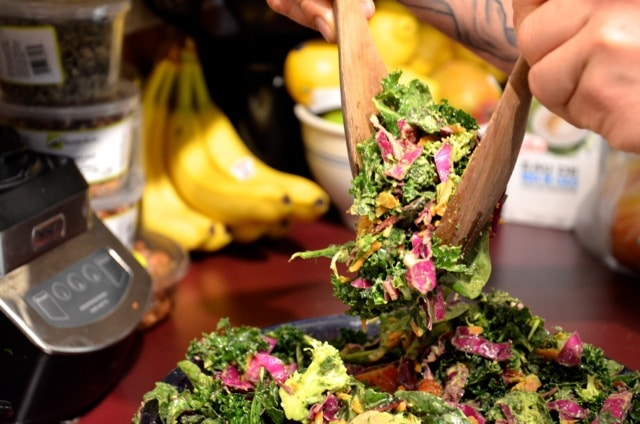 Big healthy vegan salad