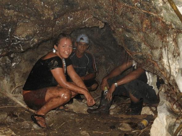 In a cave in GuatamalaIn a cave in Guatamala