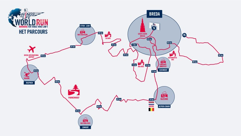 Wings For Life World Run parcours 2016