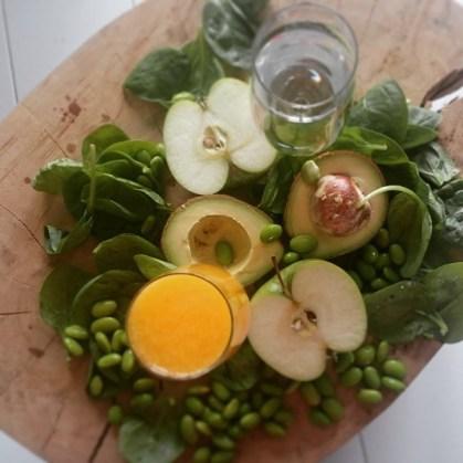 Avocado, spinazie, sojabonen spinazie