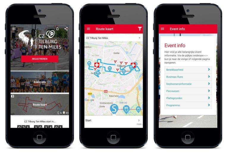 Tilburg Ten Miles app