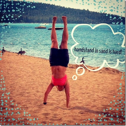 handstand on sand 6/28/13