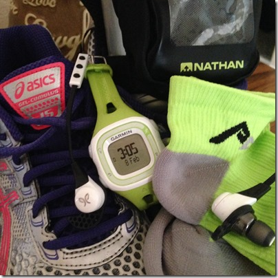 favorite fitness gear, asics, jaybird sports, wireless headphones, garmin 10, procompression, keep it tight, nathan water bottle