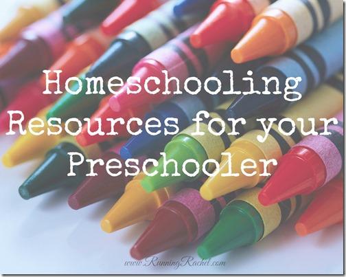 Homeschooling Resources for Preschool
