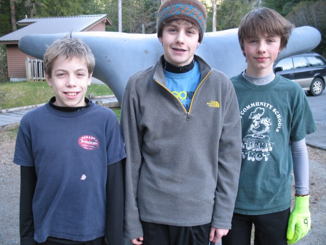 I'm on the right with two of my friends. We're at Whale Park.