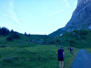Going up to Grosse Scheidegg