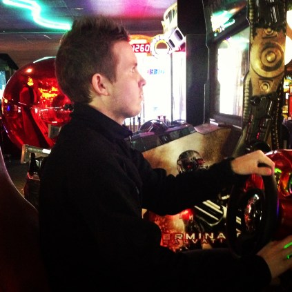 Wes in the Arcade