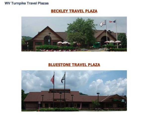 WV Travel Plazas