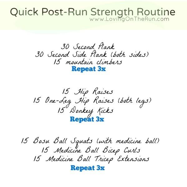 Post Run Strength