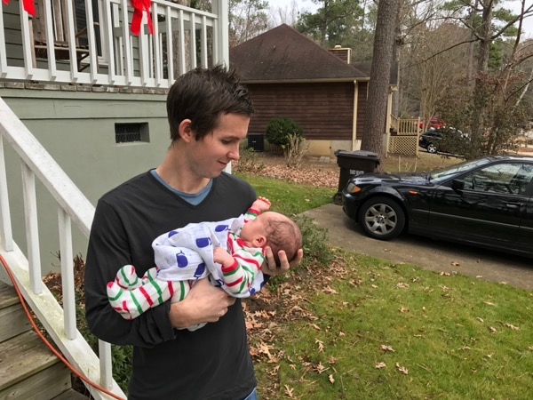 Wes and Easton First Christmas