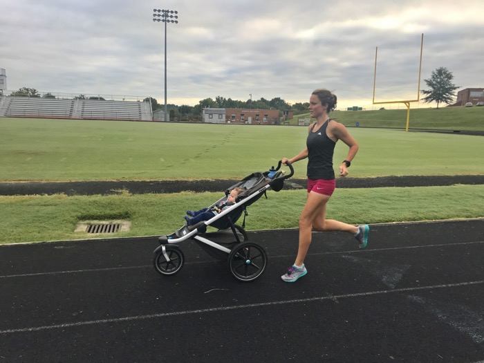 Marathon Training with a Stroller