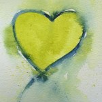 Watercolour painting - Lime Heart