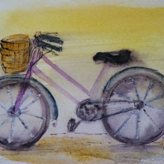 Watercolour painting. Off to the Market (RWB0023)