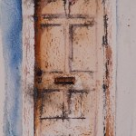 Watercolour painting. Valparaiso Door (RWB0026)