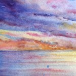 Watercolour painting. Evening Sea by Judith Farnworth (JFA004)