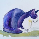Watercolour painting. Contentment (LBA001)