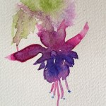 Watercolour Painting. Hanging Around (LBA004)