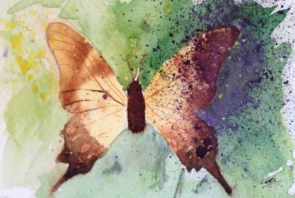 Watercolour painting. Pollinate (LBA007)