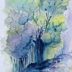 Watercolour painting: Woodland Path (RWB0034) Artist: Vandy Massey