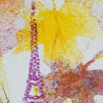 Watercolour painting. Autumn in Paris 2 (CAM002). Artist: Claude Ambollet