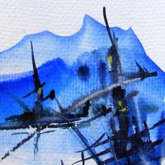 Watercolour painting. Steaming Ahead (CAM014). Artist: Claude Ambollet