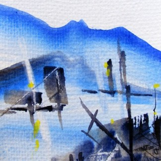 Watercolour painting. Icy Water (CAM016). Artist: Claude Ambollet