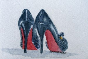 Watercolour painting. Stepping Out (IOA015). Artist: Ingrid Ormestad