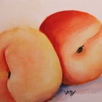 Watercolour painting. Just Peachy (RWB0070) Artist: Vandy Massey