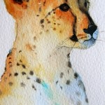 Watercolour Painting. Ready for the Chase (POB011) Artist: Polly Birchall