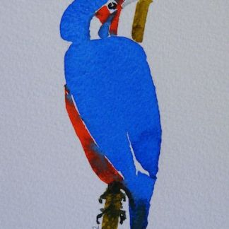 Watercolour painting. Kingfisher 2 (RRA006) Artist: Ros Ridley