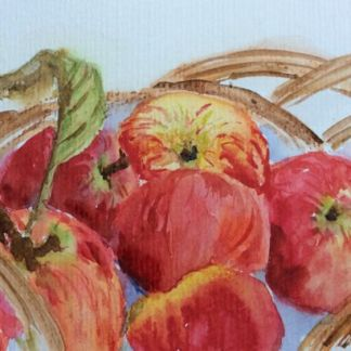 Watercolour painting. RWB0113 Autumn Apples Artist: Vandy Massey