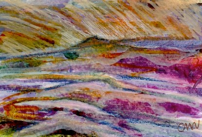 Watercolour painting. CMW005 Roseberry Sunset Artist: Clare Maria Wood