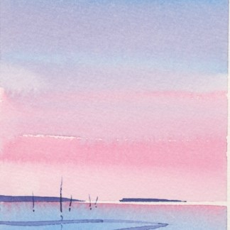 Watercolour painting. MLA011 Seascape 5 Artist: Maggie Latham