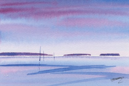 Watercolour painting. MLA009 Seascape 3. Artist: Maggie Latham