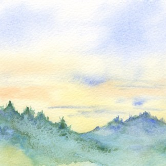 Watercolour painting. RWB0195 - Lakka Sky 1. Artist: Vandy Massey