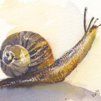Watercolour painting. POB016 - On the Move. Artist: Polly Birchall
