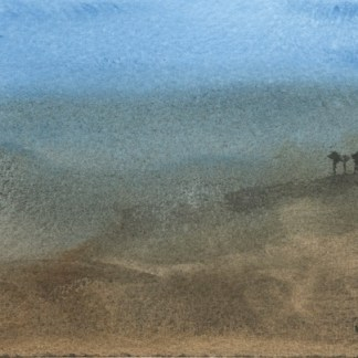 Watercolour painting. RWB0221 - Three Valleys, Morocco.