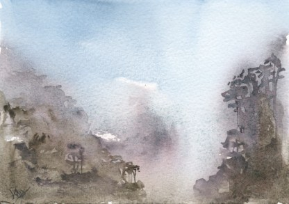 Watercolour painting. RWB0222 - Tranquility