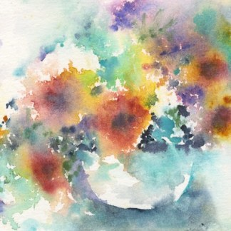 Watercolour painting. IKA003 Focus on the Journey. Artist: Isabella Kramer