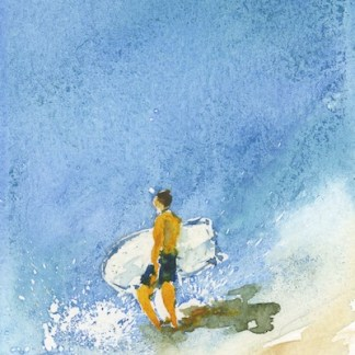 Watercolour painting. IKA007 Into the Blue. Artist: Isabella Kramer