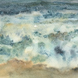 Watercolour painting. RWB0287 Stormy waters. Artist: Vandy Massey