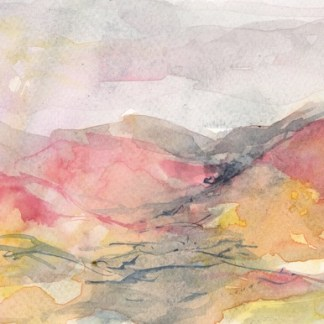 Watercolour painting. RWB0313 Evening Blush. Artist: Vandy Massey