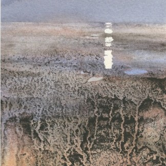 Watercolour painting. SMT003 Moon Rising. Artist: Susanne Taylor