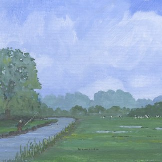 Gouache painting. AOA006 Oh to be in England. Artist: Anthony Osler