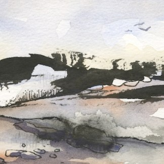 Watercolour painting. PNA002 The Tors, Dartmoor I. Artist: Penny Newman