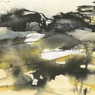 Watercolour painting. PNA005 The Tors, Dartmoor IV. Artist: Penny Newman